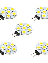 cheap -5pcs 1 W LED Bi-pin Lights 68 lm G4 6 LED Beads SMD 5050 Warm White White 12 V / 5 pcs