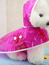 cheap -Dog Rain Coat Solid Colored Casual / Daily Dog Clothes Fuchsia Blue Green Costume Acrylic Fibers