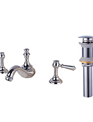 cheap -Faucet Set - Widespread Chrome Widespread Two Handles Three HolesBath Taps