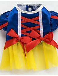 cheap -Cat Dog Dress Tuxedo Dog Clothes Blue Costume Chiffon Terylene Bowknot Party Cosplay Casual / Daily XS S M L XL XXL