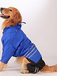 cheap -Dog Rain Coat Winter Dog Clothes Yellow Red Blue Costume Large Dog Acrylic Fibers Down Solid Colored Casual / Daily