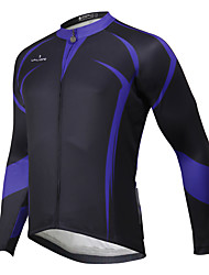 cheap -ILPALADINO Men's Long Sleeve Cycling Jersey Winter Fleece Plus Size Bike Top Mountain Bike MTB Road Bike Cycling Waterproof Breathable Quick Dry Sports Clothing Apparel / Waterproof Zipper / Stretchy