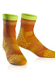 cheap -Compression Socks Athletic Sports Socks Running Socks Men's Women's Tube Socks Socks Fitness, Running & Yoga Running Sports Special Design Cotton Orange Blue Green