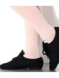 cheap -Women's Dance Shoes Canvas / Fabric Jazz Shoes Flat / Heel Flat Heel Customizable Black / Practice