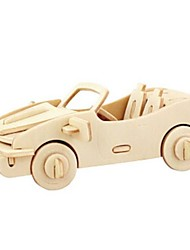 cheap -3D Puzzle Jigsaw Puzzle Model Building Kit Car Animals DIY Wood Natural Wood Unisex Toy Gift