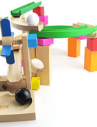 cheap -Balls Marble Track Set Paternity Game 1 pcs Wooden Boys' Girls' Kid's Toy Gift