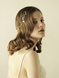 cheap -Gemstone & Crystal Tulle Imitation Pearl Alloy Headbands Headpiece with Crystal Feather 1 Wedding Special Occasion Anniversary Birthday