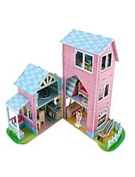 abordables -Puzzles 3D Puzzle Maison de Poupées Bâtiment Célèbre En bois Enfant Unisexe Jouet Cadeau