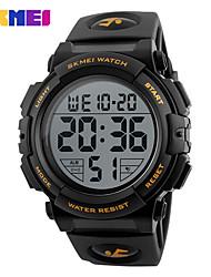 Недорогие -SKMEI Муж. Спортивные часы электронные часы Цифровой Стеганная ПУ кожа Черный / Зеленый Повседневные часы Цифровой Кулоны - Зеленый Синий Золотистый Два года Срок службы батареи / Maxell626 + 2025