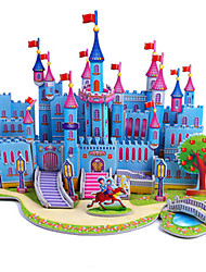 cheap -3D Puzzle Jigsaw Puzzle Model Building Kit Castle Famous buildings DIY Hard Card Paper Classic Anime Cartoon Kid's Unisex Toy Gift