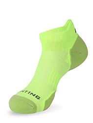 cheap -Compression Socks Athletic Sports Socks Running Socks 1 Pair Men's Socks Ankle Socks Fitness, Running & Yoga Limits Bacteria Sports Running Sports Simple Cotton Chinlon Black White Green / Stretchy