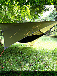 cheap -Camping Hammock with Pop Up Mosquito Net Hammock Rain Fly Outdoor Waterproof Sunscreen Anti-Mosquito Parachute Nylon with Carabiners and Tree Straps for 2 person Camping / Hiking Fishing Beach