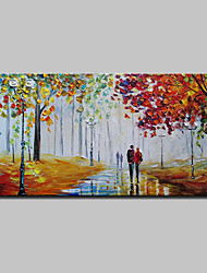 cheap -Oil Painting Hand Painted - Landscape Abstract Modern Rolled Canvas