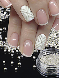 cheap -1 bottletiny circle bead decoration silver gold 3d nail art caviar diy accessories manicure tools