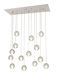 cheap -14 Bulbs UMEI™ 10 cm Bulb Included / Dimmable / Dimmable With Remote Control Pendant Light Metal Cluster White Modern Contemporary AC100-240V