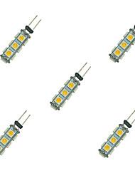 cheap -5pcs 2 W LED Bi-pin Lights 135 lm G4 13 LED Beads SMD 5050 Warm White White 12 V / 5 pcs
