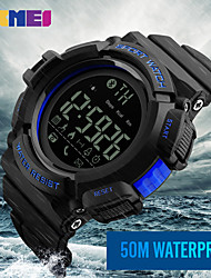 cheap -Men's Sport Watch Military Watch Smartwatch Digital Silicone Multi-Colored 50 m Water Resistant / Waterproof Calendar / date / day Chronograph Digital Charm Classic Casual Fashion Dress Watch - Black