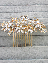 cheap -Crystal / Rhinestone Hair Combs with 1 Wedding Headpiece