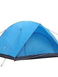 cheap -4 person Tent Outdoor Waterproof Rain Waterproof Quick Dry Double Layered Camping Tent >3000 mm for Camping / Hiking Glass fiber Terylene