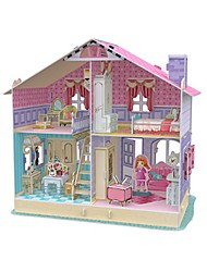 abordables -Puzzle Maison de Poupées Maquette en Papier Bâtiment Célèbre En bois Enfant Unisexe Jouet Cadeau
