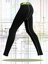cheap -Men's Leggings Running Tights Gym Leggings Elastane Sports Bottoms Running Casual Exercise & Fitness Leisure Sports Basketball Football / Soccer Breathable Quick Dry Sweat-wicking Solid Colored Black