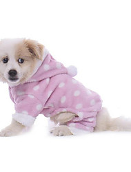 cheap -Dog Pajamas Dog Clothes Polka Dot Blue Pink Polyester Costume For Winter Men's Women's Casual / Daily