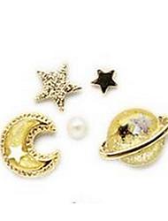 cheap -Women's Stud Earrings Unique Design Earrings Jewelry Gold / Dark Blue / Pink For Dailywear Thank You Dress Valentine