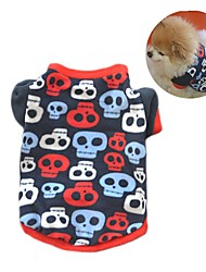 cheap -Cat Dog Coat Shirt / T-Shirt Sweatshirt Dog Clothes Skull Black Camouflage Color Polar Fleece Costume For Spring &  Fall Winter Women's Party Casual / Daily Keep Warm