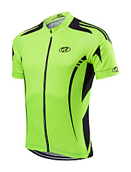 cheap -Fastcute Men's Cycling Jacket Polyester Yellow Red Light Green Bike Jersey Mountain Bike MTB Road Bike Cycling Sports Clothing Apparel / Quick Dry / Stretchy / Advanced / Advanced
