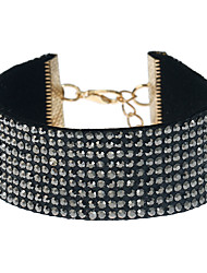 cheap -Women's Choker Necklace Ladies Unique Design Alloy White Black Gray Necklace Jewelry For Event / Party Dailywear Outdoor clothing
