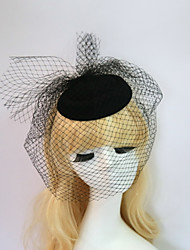 cheap -Resin / Cotton Fascinators / Hats with 1 Wedding / Special Occasion / Halloween Headpiece