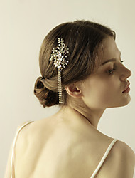 cheap -Gemstone & Crystal / Tulle / Rhinestone Hair Combs / Flowers / Headpiece with Crystal / Feather 1 Wedding / Special Occasion / Anniversary Headpiece