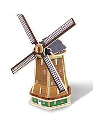 abordables -Robotime Puzzles 3D Puzzle Maquettes de Bois Moulin à vent Bâtiment Célèbre A Faire Soi-Même En bois Classique Enfant Unisexe Jouet Cadeau
