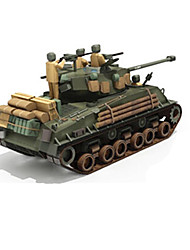 cheap -3D Puzzle Paper Craft Tank DIY Simulation Hard Card Paper Kid's Unisex Boys' Toy Gift