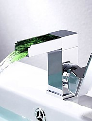 cheap -Bathroom Sink Faucet - Waterfall Chrome Centerset Single Handle One Hole