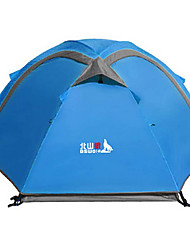 cheap -BSwolf 2 person Tent Outdoor Waterproof Rain Waterproof Foldable Double Layered Camping Tent >3000 mm for Camping / Hiking Glass fiber Terylene