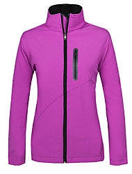 cheap -Women's Hiking Softshell Jacket Hiking Jacket Winter Outdoor Thermal / Warm Waterproof Windproof Fleece Lining Fleece Softshell Jacket Top Running Camping / Hiking Hunting Black Violet Red S M L XL