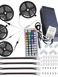 cheap -KWB Led Light Strip Kit Waterproof 20M(4*5M) 5050 10mm RGB 600 LEDs Strip Lights with 44Key IR Remote Controller Kit and 12V 10A EU/US/AU/UK Power Supply with A set Mounting Bracket