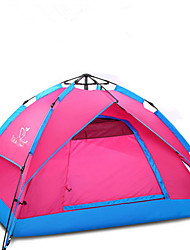 cheap -Trackman® 4 person Automatic Tent Outdoor Lightweight Rain Waterproof Ultraviolet Resistant Double Layered Camping Tent 2000-3000 mm for Camping / Hiking Outdoor Nylon Polyester Taffeta