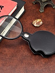 cheap -1Pcs  Portable 60MM Magnifier Mini Magnifying Glass Loupe Reading Tool for Night Reading Ramdon Color