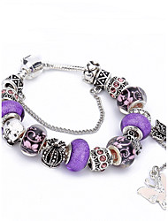 cheap -Women's Crystal Charm Bracelet Bead Bracelet Friends Heart Flower Luxury Natural Fashion Crystal Bracelet Jewelry Purple For Christmas Gifts Wedding Party Party Evening Party / Evening Engagement