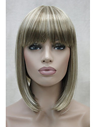 cheap -Synthetic Wig Straight Straight Bob With Bangs Wig Blonde Short Blonde Synthetic Hair Women's Blonde StrongBeauty