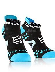 cheap -Compression Socks Athletic Sports Socks Running Socks Men's Women's Socks Ankle Socks Moisture Wicking Running Casual Sports Cotton Blue Red