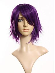 Недорогие -Парики из искусственных волос Прямой Прямой силуэт Парик Короткие Фиолетовый Искусственные волосы Муж. Фиолетовый