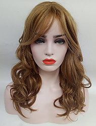 cheap -Synthetic Wig Wavy Wavy Wig Medium Length Medium Auburn#30 Synthetic Hair Women's Brown