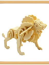 cheap -3D Puzzle Jigsaw Puzzle Model Building Kit Lion Animals DIY Wooden Kid's Unisex Toy Gift