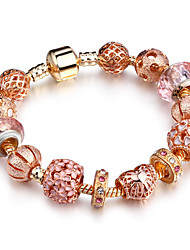 cheap -Women's Bead Bracelet Ladies Fashion Solid Brass Bracelet Jewelry Rose Gold For Party Birthday Dailywear