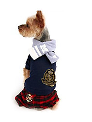 cheap -Dog Jumpsuit Dog Clothes British Cotton Costume For Spring &  Fall Men's Women's Casual / Daily
