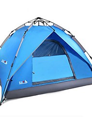 cheap -BSwolf 4 person Automatic Tent Outdoor Waterproof Rain Waterproof Dust Proof Double Layered Camping Tent 2000-3000 mm for Camping / Hiking Glass fiber Terylene