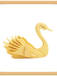 cheap -3D Puzzle Jigsaw Puzzle Model Building Kit Swan Animals DIY Wooden Kid's Toy Gift